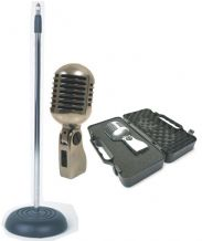 YOGA Vintage Style 'Elvis' Retro Microphone & Matching Stand Package
